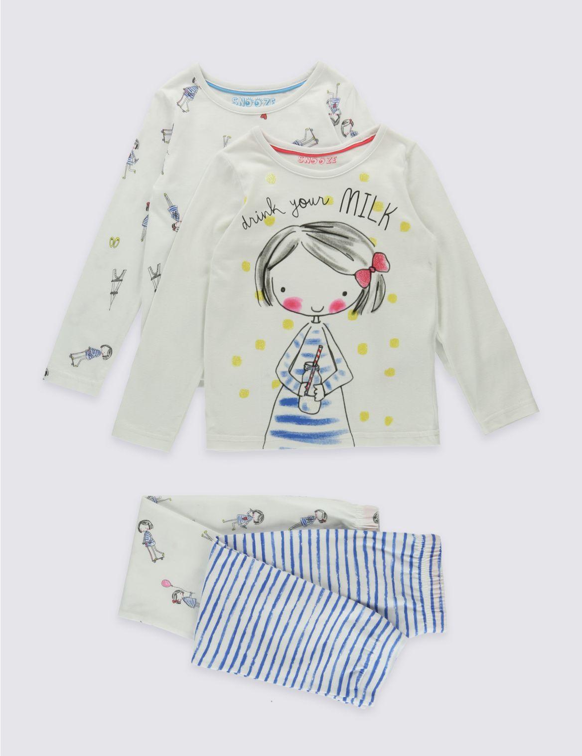 Set van 2 pyjama s van zuiver