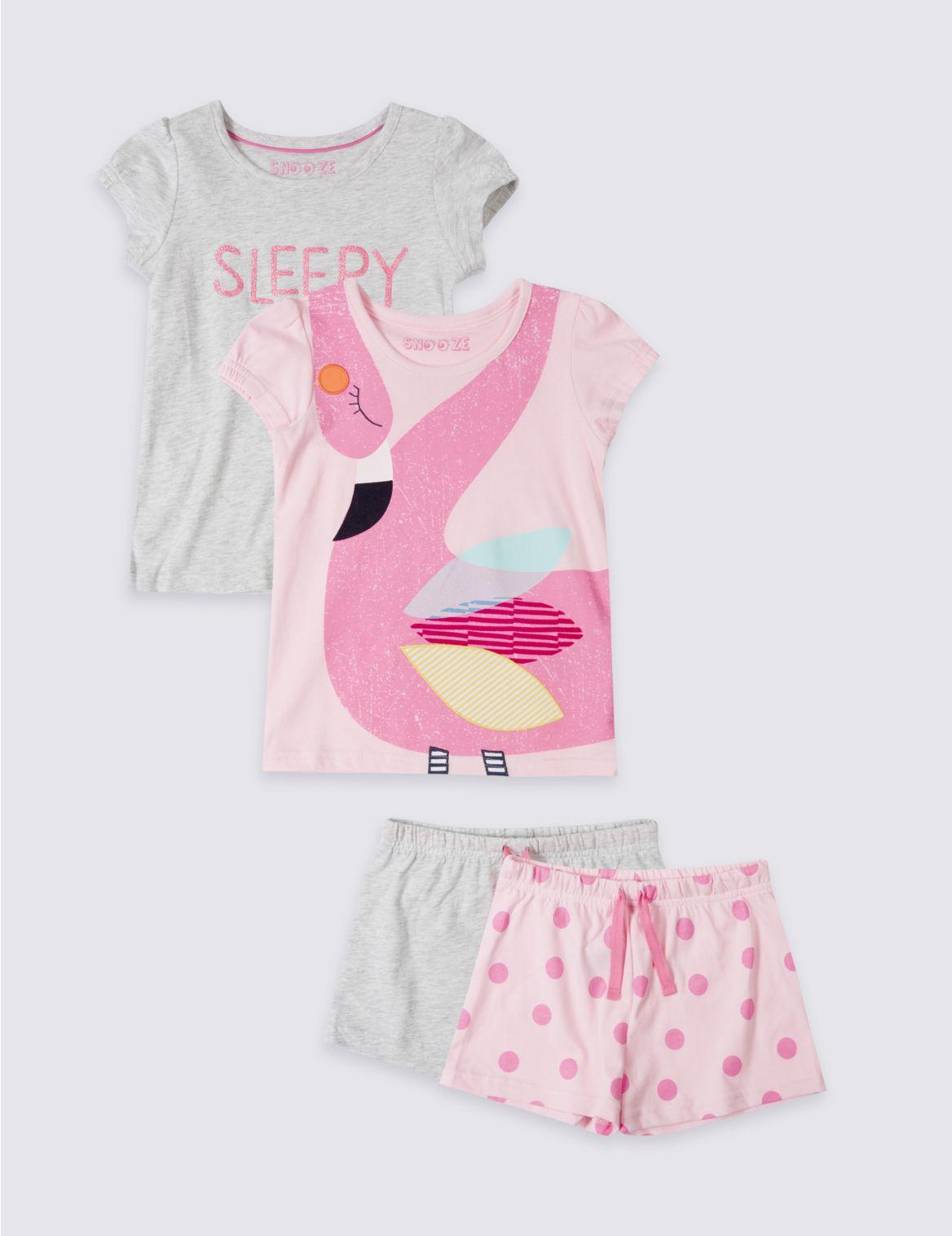 Set van 2 korte pyjama s van