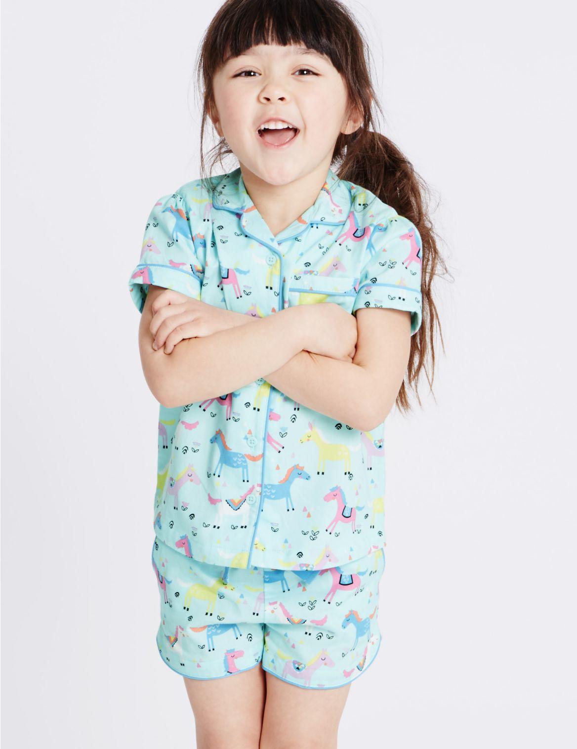 Pyjama van puur katoen met print