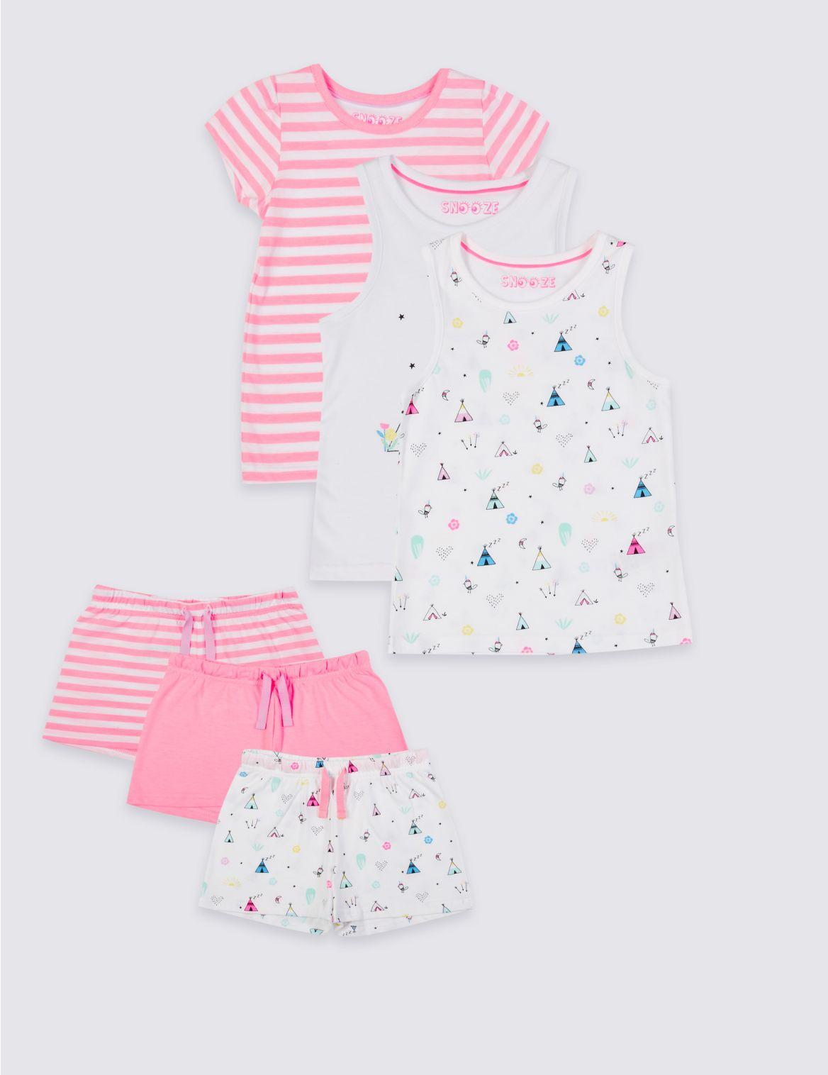 Set van 3 korte pyjama s (9