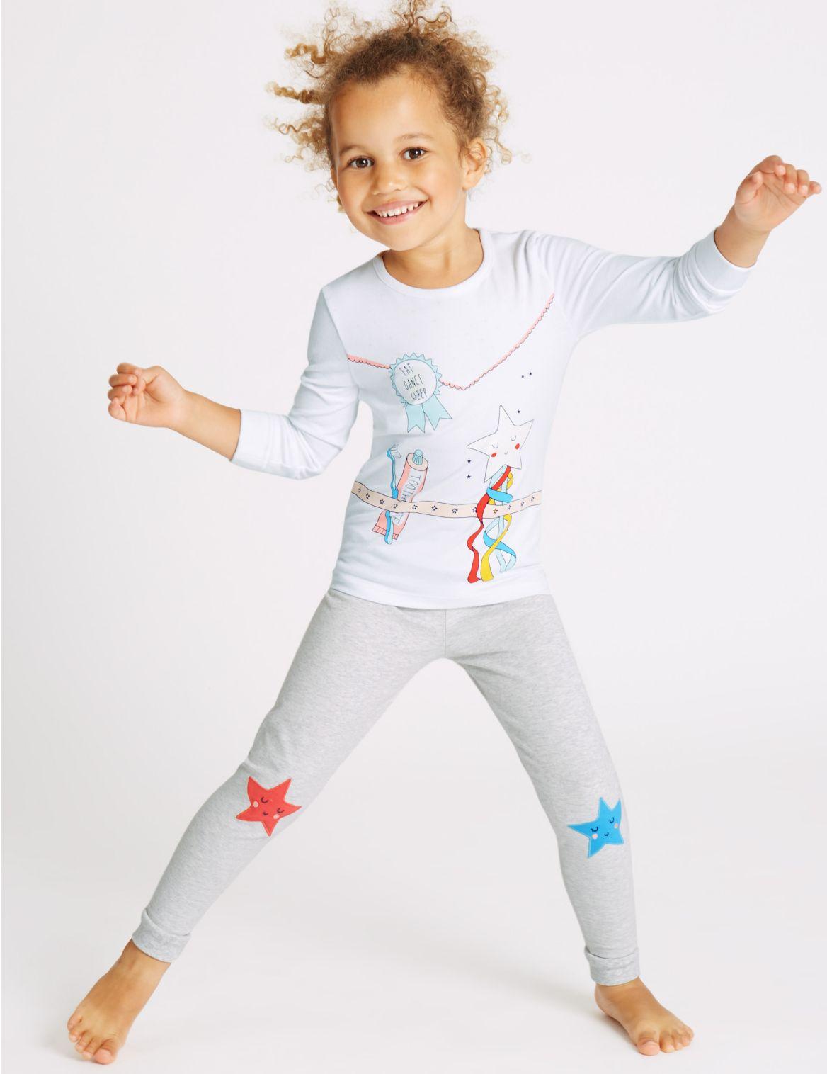Katoenen pyjama met stretch (9