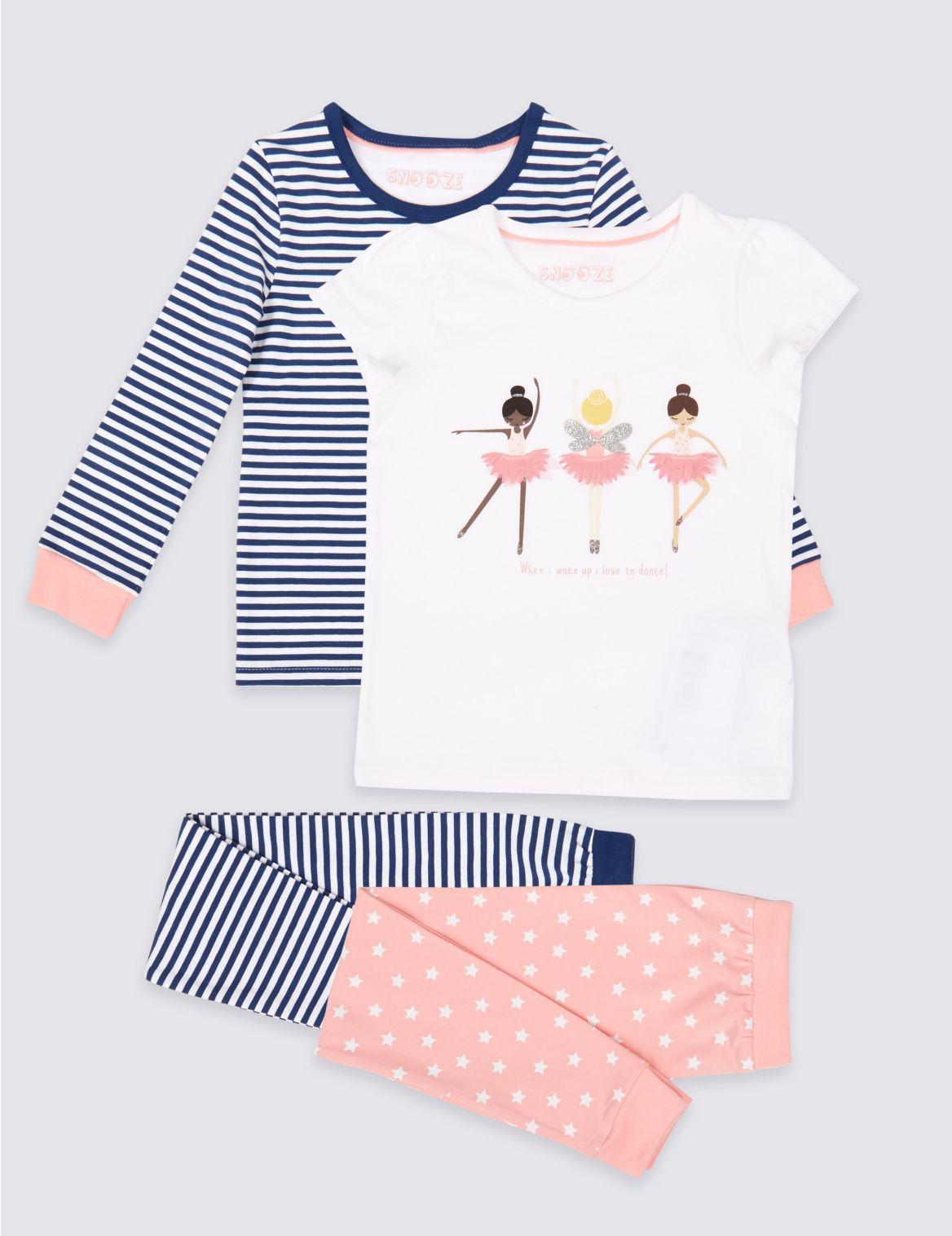 Set van 2 katoenen pyjama s met