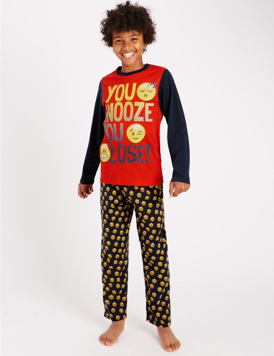 Puur katoenen pyjama met lange