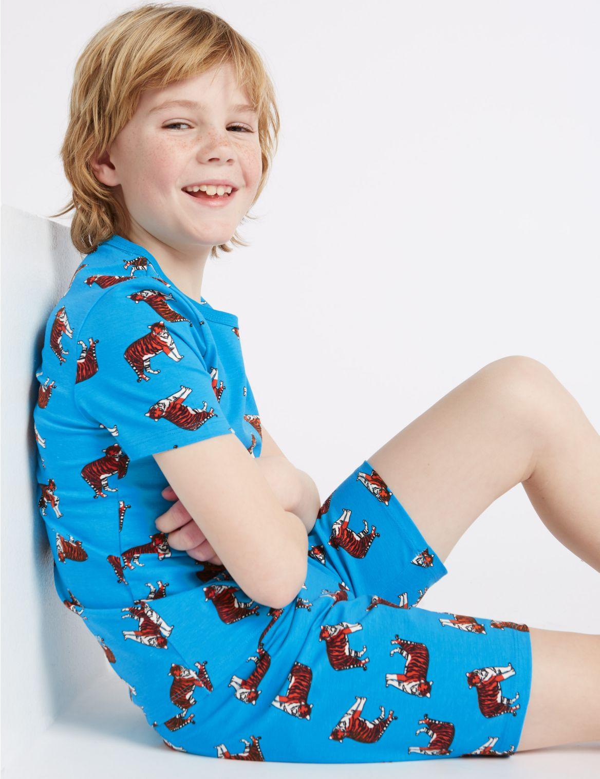 Korte pyjama met tijgerprint (116