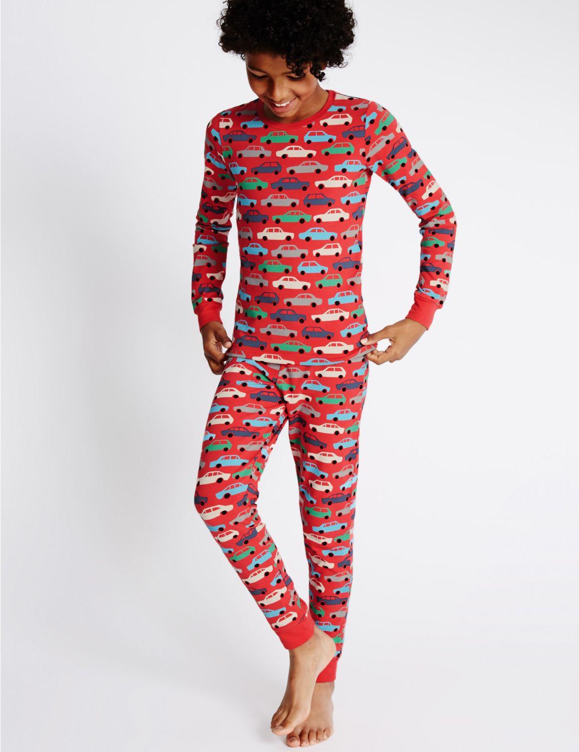 Katoenrijke pyjama met automotief