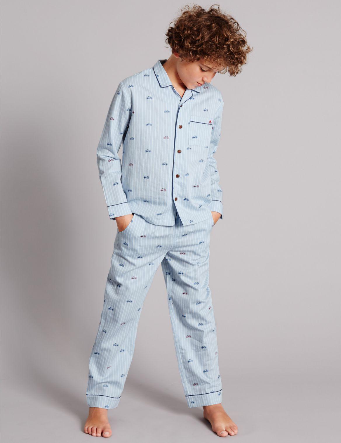Pure Cotton Bike Woven Pyjamas