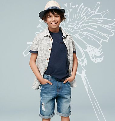 A boy wearing a casual outfit from our new in collection