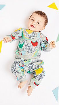 Baby wears M&S sleepwear