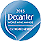 Decanter World Wine Awards Commended 2015