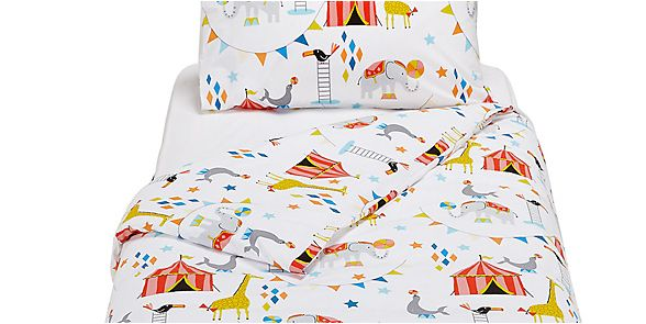 Childrens bedding with an animal print
