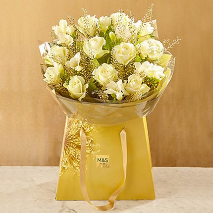 Christmas rose & freesia gift bag