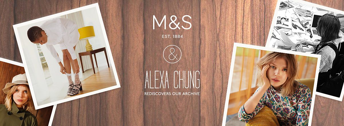 M&S & Alexa Chung Rediscovers our Archive