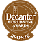 Decanter World Wine Awards Bronze 2014