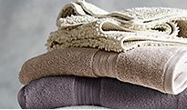 Stack of neutral towels