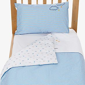 Baby bedding on a baby bed