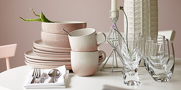 Dinner plates and side plates from the M&S crockery range