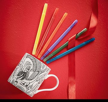 Colour your own mug kit