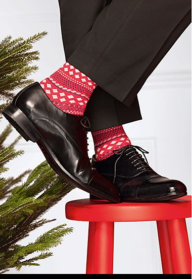 Red Christmas socks for him