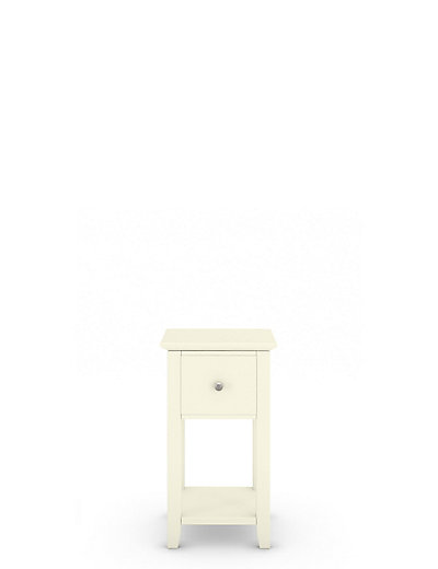 Narrow Bedside Table 2 hastings ivory compact bedside chests | m&s