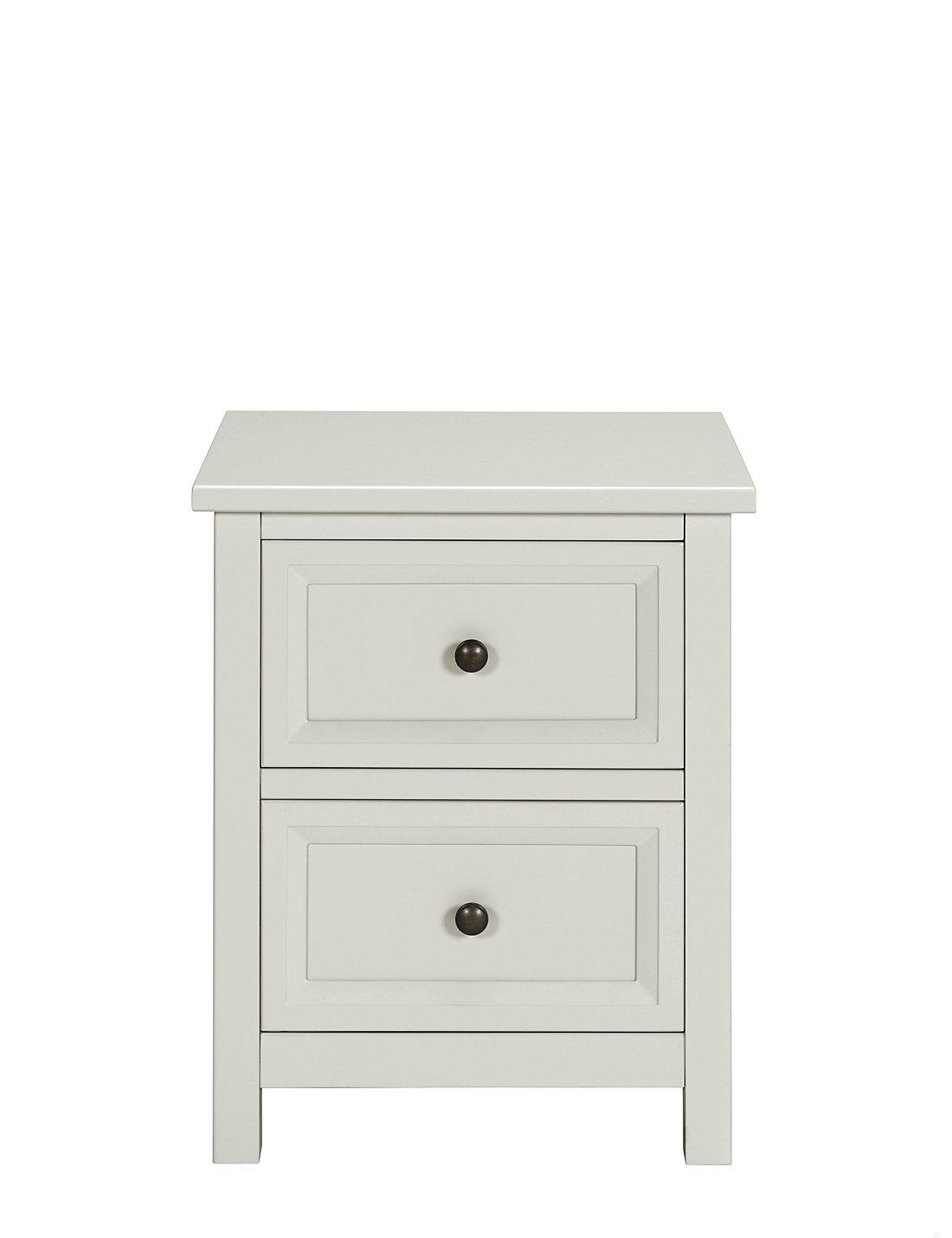 White bedside table - Dawson Bedside Grey Drawer Chest