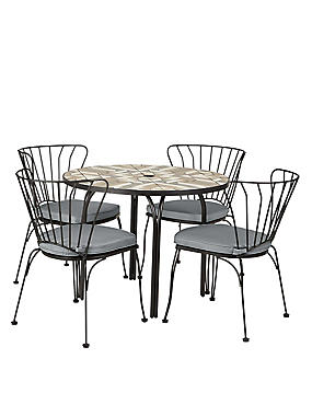 Geo Mosaic Table & 4 Chairs, , catlanding