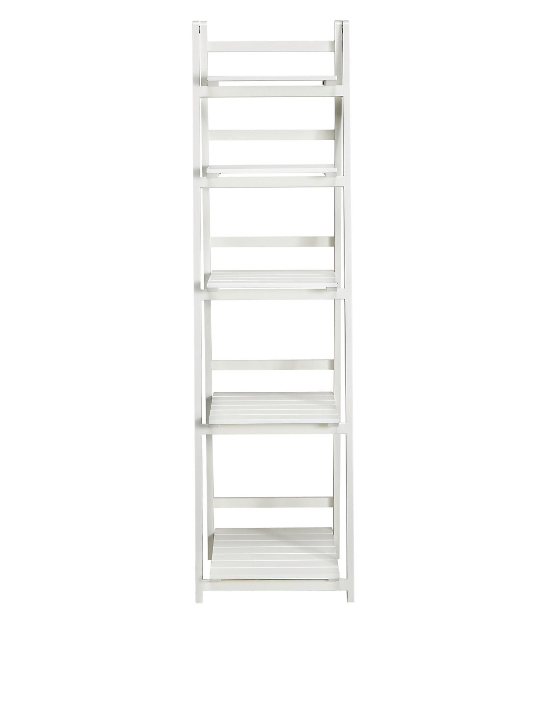 Bathroom storage units free standing - Nagoya Folding Shelving High White