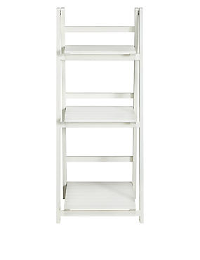Nagoya Folding Shelving Low White, , catlanding