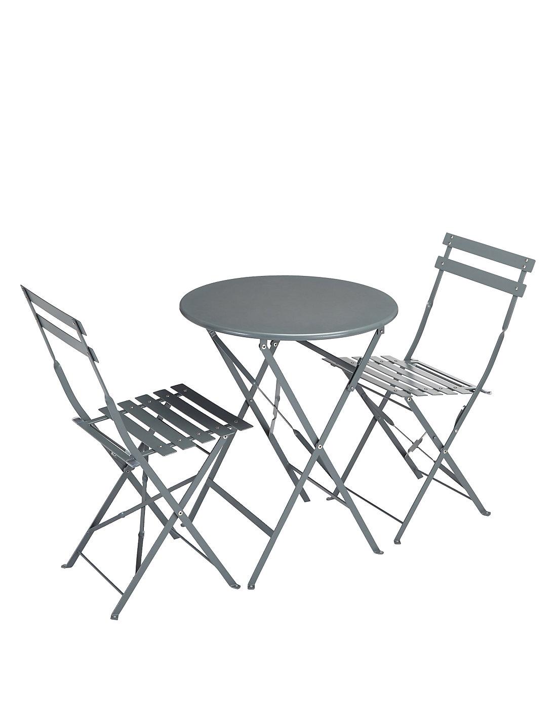 Cortado Round Table U0026 2 Chairs   Grey Part 58