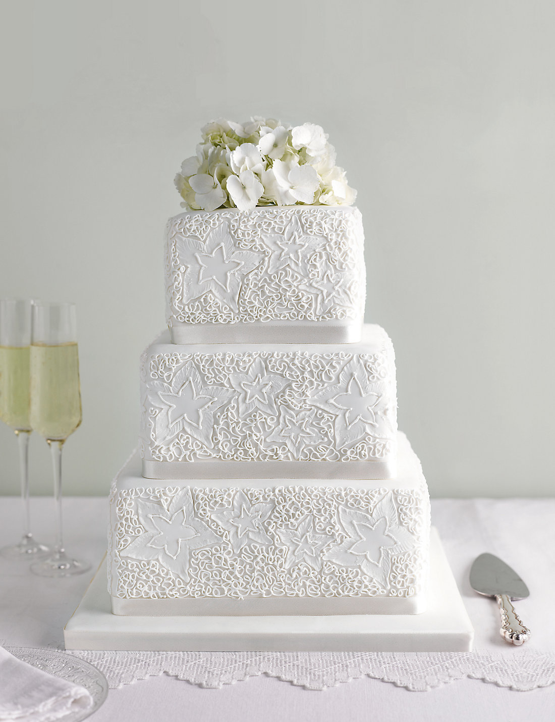 Lace Sponge Wedding Cake Available To Order Until 31st January 2017