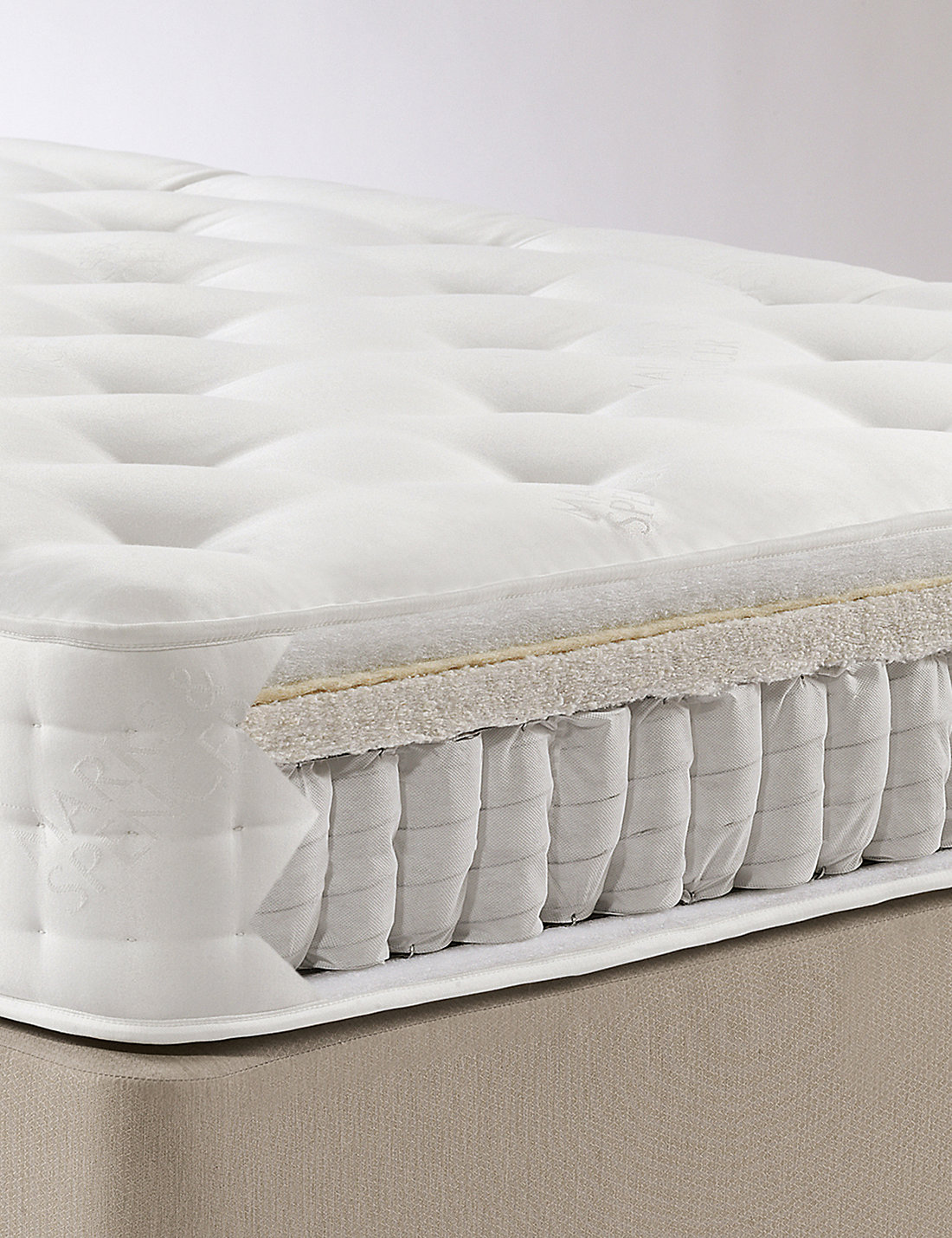 Natural 1250 Mattress Firm Support 7 Day Delivery M S