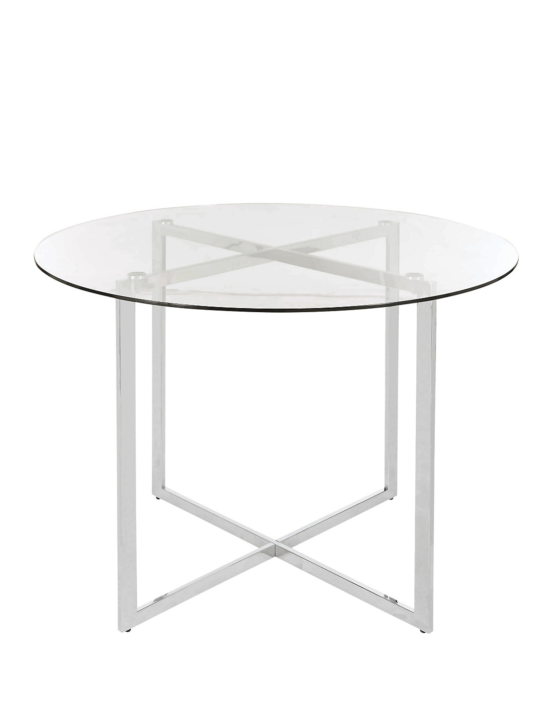 metal glass round dining table - Glass Round Dining Table
