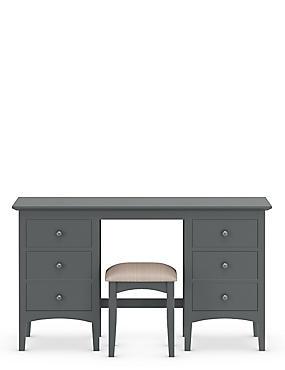 Hastings Dressing Table & Stool Dark Grey, , catlanding