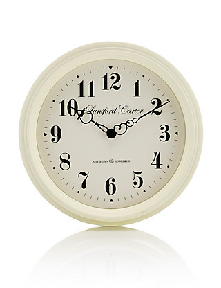 Cream Station Clock Home