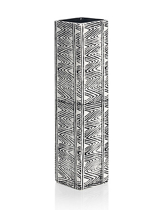 Tribal Zig Zag Design Vase Home