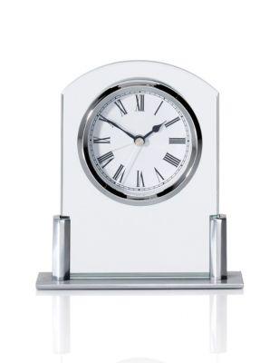 Mini Glass Mantel Clock With Alarm M Amp S