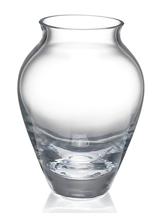Modern Small Urn Clear Glass Vase Home