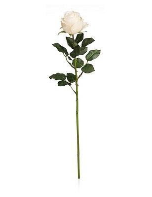 Artificial Closed Rose, IVORY, catlanding