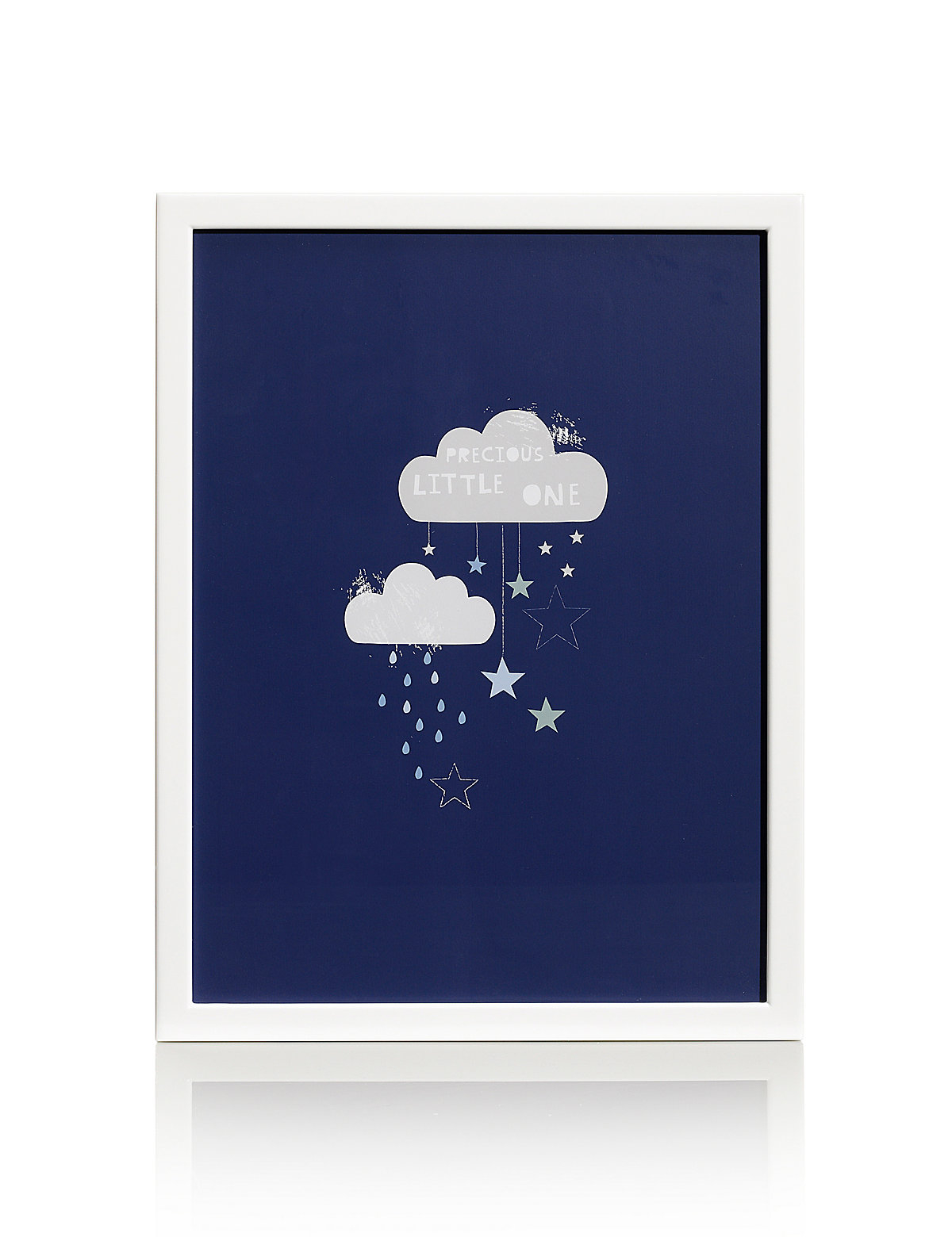 Precious Little One Cloud Print Framed Wall Art