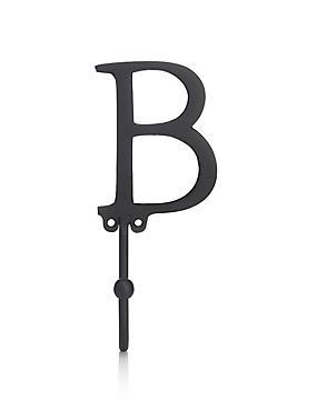 Deurhaak met de letter B, , catlanding