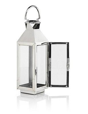 Medium Lantern, SILVER, catlanding