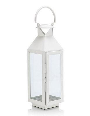 Medium Lantern, WHITE, catlanding