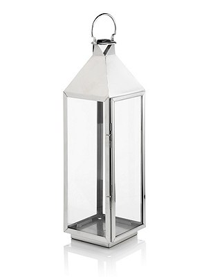 Extra Large Lantern, SILVER, catlanding