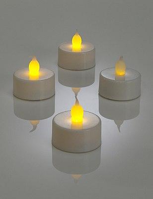 4 LED Tealights, , catlanding