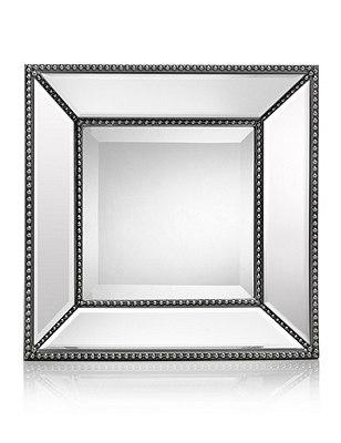 Beaded Square Mirror, , catlanding