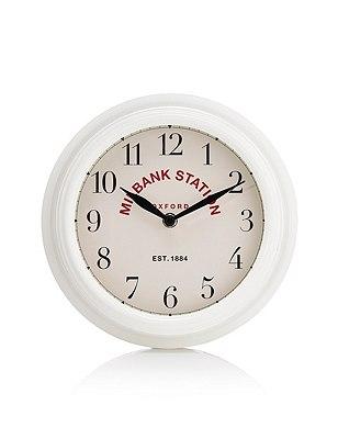 Small Milbank Mantel Wall Clock, IVORY, catlanding