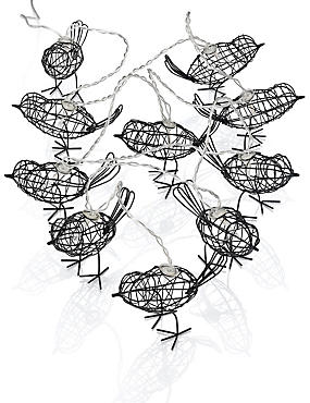 10 LED Outdoor Wire Bird String Lights