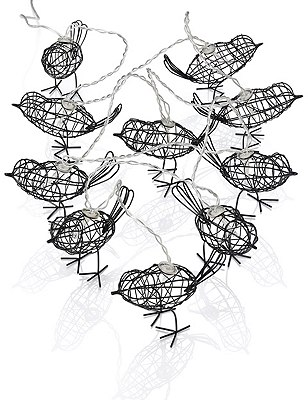 10 LED Outdoor Wire Bird String Lights, , catlanding