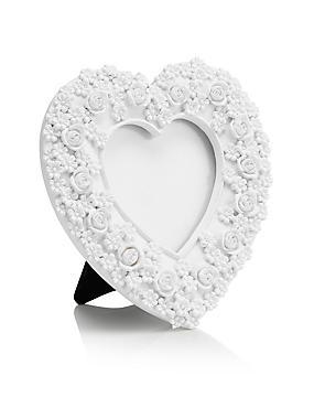 Rose Heart Frame 3.5 x 3.5cm (1.4 x 1.4inch), WHITE, catlanding