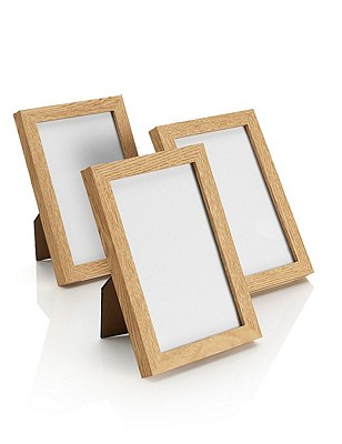 3 Photo Frames 10 x 15cm (4 x 6''), OAK, catlanding