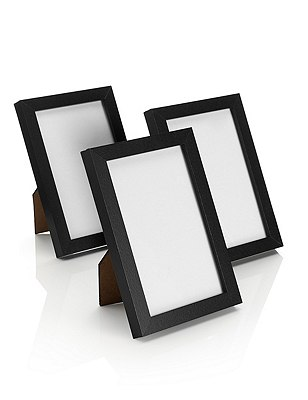 3 Photo Frames 10 x 15cm (4 x 6''), BLACK, catlanding